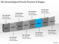3d Chronological Puzzle Process 8 Stages Inspection Business PowerPoint Slides