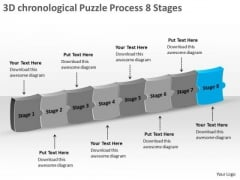 3d Chronological Puzzle Process 8 Stages Ppt Flowchart Examples PowerPoint Templates