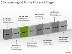 3d Chronological Puzzle Process 8 Stages Ppt Make Flow Chart PowerPoint Templates