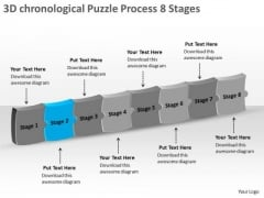3d Chronological Puzzle Process 8 Stages Quote Flow Chart PowerPoint Templates
