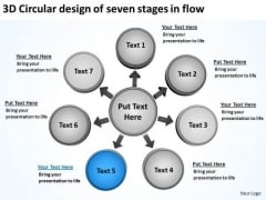 3d Circular Design Of Seven Stages In Flow Business Arrows Diagram Software PowerPoint Slides