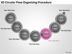 3d Circular Flow Organizing Procedure Free Example Business Plans PowerPoint Slides
