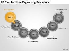 3d Circular Flow Organizing Procedure Free Sample Business Plans Templates PowerPoint Slides