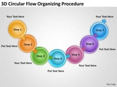 3d Circular Flow Organizing Procedure Process Chart Manufacturing PowerPoint Slides