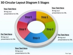 3d Circular Layout Diagram 5 Stages Network Marketing Business Plan PowerPoint Slides