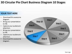 3d Circular Pie Chart Business Diagram 10 Stages Plan PowerPoint Templates