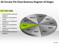 3d Circular Pie Chart Business Diagram 10 Stages Plans Online PowerPoint Templates