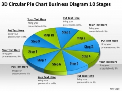 3d Circular Pie Chart Business Diagram 10 Stages Ppt Plan Layouts PowerPoint Slides
