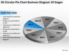 3d Circular Pie Chart Business Diagram 10 Stages Ppt Plan PowerPoint Templates