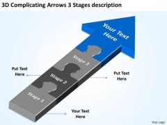 3d Complicating Arrows Stages Description Consulting Business Plan PowerPoint Templates