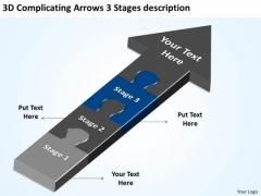 3d Complicating Arrows Stages Description Ppt Subway Business Plan PowerPoint Templates