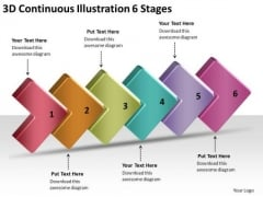 3d Continuous Illustration 6 Stages Electrical Schematic Symbols PowerPoint Slides