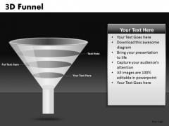 3d Conversion Funnels Shapes PowerPoint Templates Ppt Slides