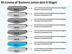 3d Course Of Business Action Plan 8 Stages Ppt Development PowerPoint Slides