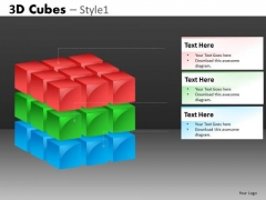 3d Cube Built In PowerPoint