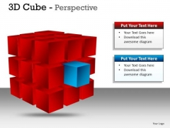 3d Cube Perspective PowerPoint Presentation Slides And Ppt Diagrams