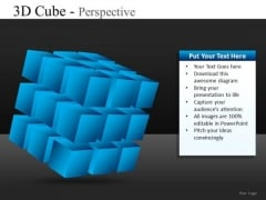 3d Cube Perspective PowerPoint Slides