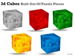 3d Cube Puzzle Pieces PowerPoint Slides And Ppt Clipart Graphics