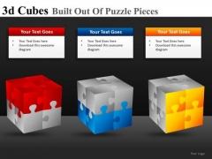 3d Cubes Built Out Of Puzzle Pieces Ppt 23