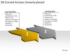 3d Curved Arrows Linearly Placed Online Flow Chart Creator PowerPoint Slides