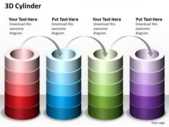 3d Cylinder Shapes PowerPoint Presentation Template
