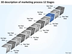 3d Description Of Marketing Process 12 Stages 90 Day Business Plan PowerPoint Templates