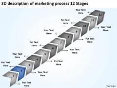 3d Description Of Marketing Process 12 Stages Ppt Business Plan Development PowerPoint Slides