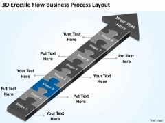3d Flow Business Process Layout Ppt How To Create Plan PowerPoint Templates