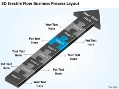 3d Flow Business Process Layout Year Plan Template PowerPoint Slides