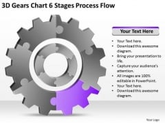 3d Gears Chart 6 Stages Process Flow Ppt Strategic Business Plans PowerPoint Templates