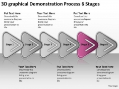 3d Graphical Demonstration Process 6 Stages Agricultural Business Plan PowerPoint Templates