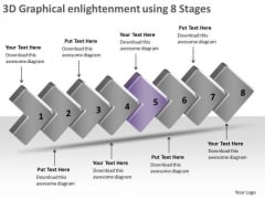 3d Graphical Enlightenment Using 8 Stages Vision Office PowerPoint Slides