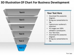 3d Illustration Of Chart For Business Development Ppt Plan PowerPoint Templates