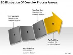 3d Illustration Of Complex Process Arrows Business Plan PowerPoint Slides