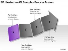 3d Illustration Of Complex Process Arrows Ppt Business Plans That Work PowerPoint Slides