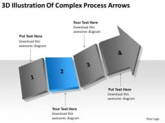 3d Illustration Of Complex Process Arrows Ppt For Business Plan PowerPoint Slides