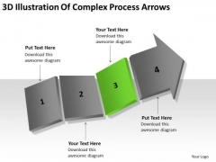 3d Illustration Of Complex Process Arrows Ppt How To Present Business Plan PowerPoint Slides