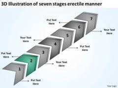 3d Illustration Of Seven Stages Erectile Manner One Page Business Plan PowerPoint Templates