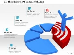 3d Illustration Of Successful Man PowerPoint Templates