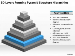 3d Layers Forming Pyramid Structure Hierarchies Ppt Business Plans Online PowerPoint Slides