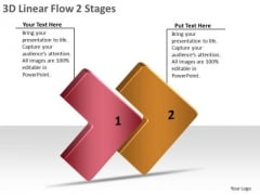 3d Linear Flow 2 Stages Home Electrical Wiring PowerPoint Templates