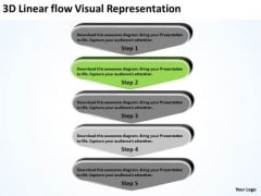 3d Linear Flow Visual Representation Pharmacy Business Plan PowerPoint Slides