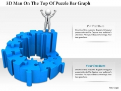3d Man On The Top Of Puzzle Bar Graph