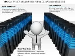 3d Man With Multiple Servers For Data Communication