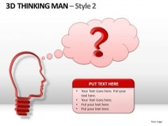3d Man With Question Bubble PowerPoint Templates Speaking Bubbles Ppt