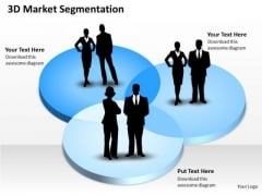 3d Market Segmentation PowerPoint Presentation Template