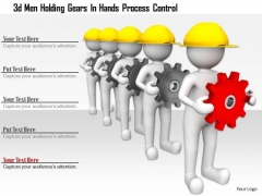3d Men Holding Gears In Hands Process Control