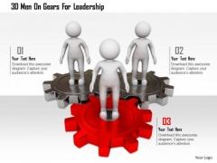 3d Men On Gears For Leadership