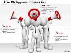 3d Men With Megaphones For Business News