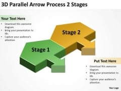 3d Parallel Arrow Process Stages Develop Business Plan PowerPoint Slides